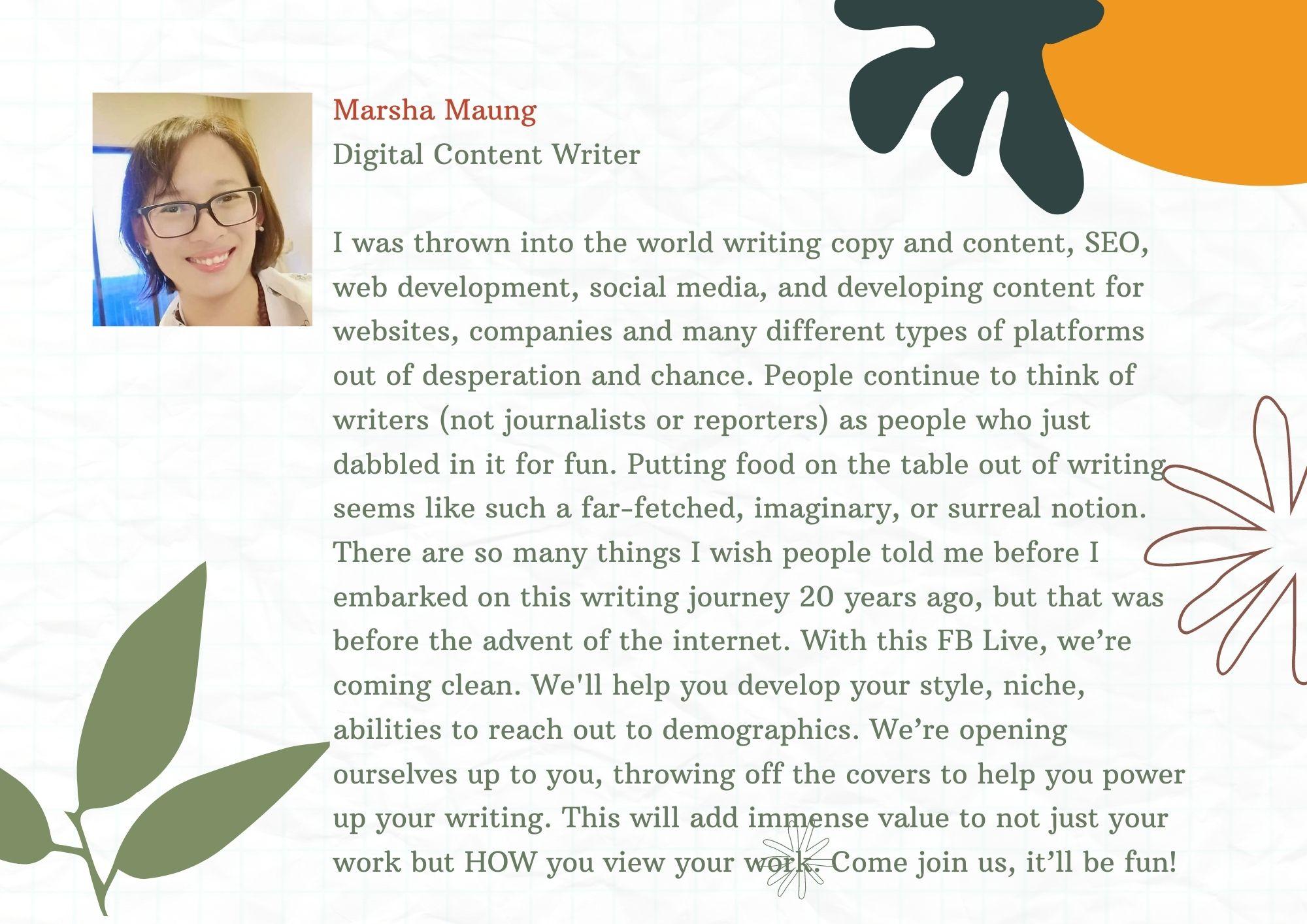 marsha maung SEO writer digital content
