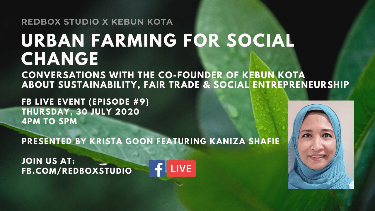 fb live interview with kebun kota c-founder kaniza shafie 30 july 2020