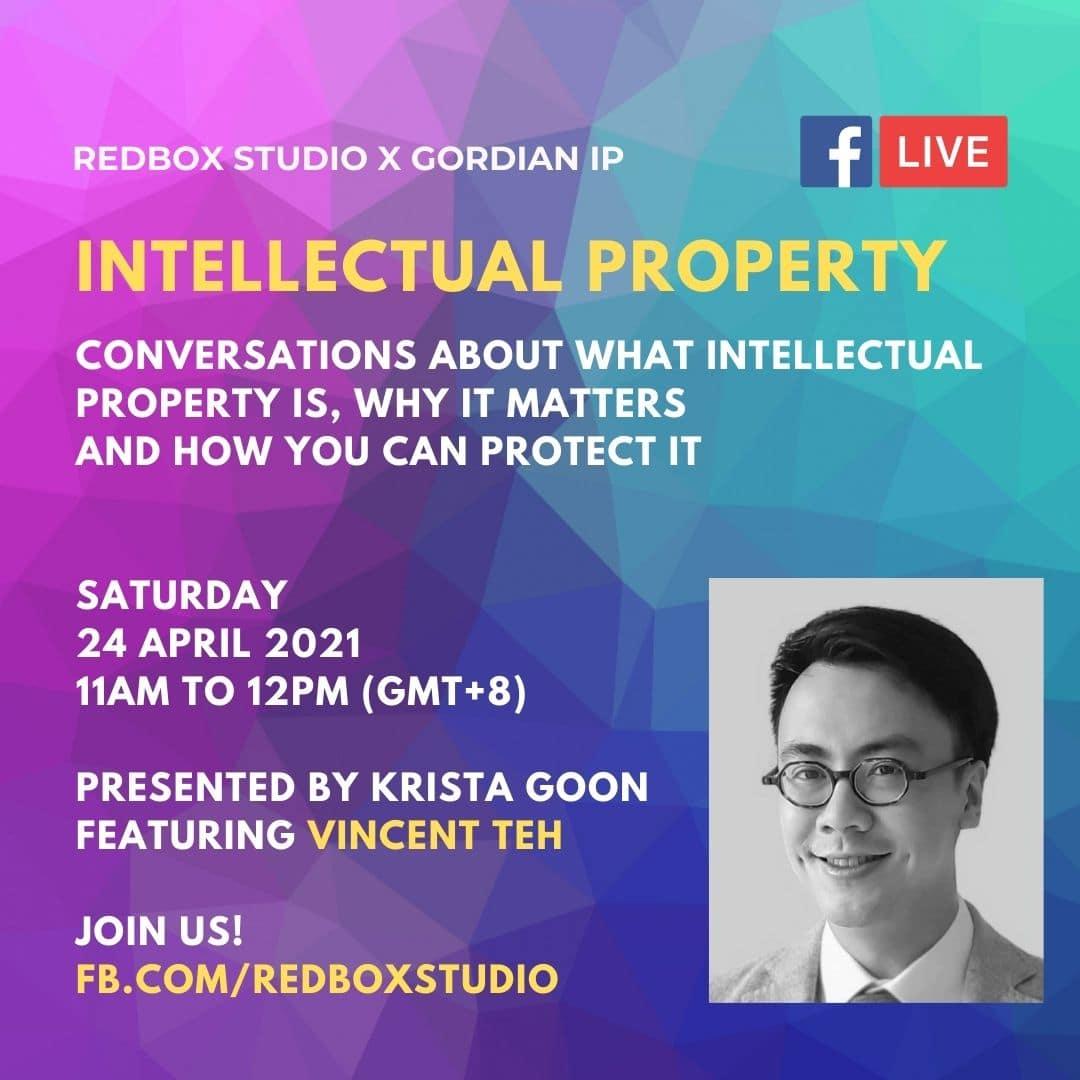 intellectual property vincent teh gordian ip redbox studio fb live