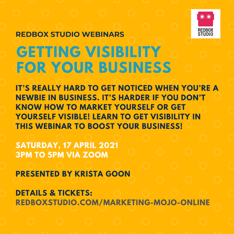webinar getting visibility for your business by krista goon