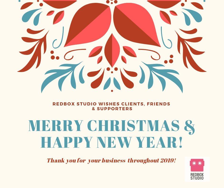 Merry Christmas Happy New Year Redbox Studio