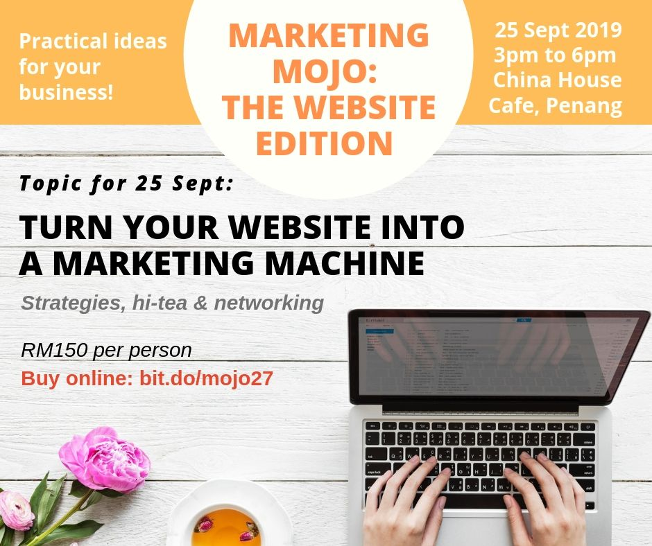 Event organised by Redbox Studio Penang about using websites for marketing