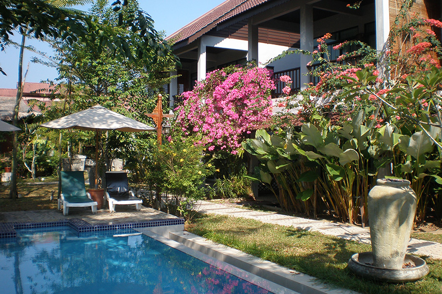 a private villa with a swimming pool in langkawi